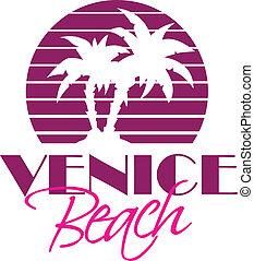 Venice Beach - Vector illustration of Venise Beach vintage...