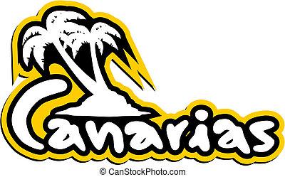 Sticker canarias