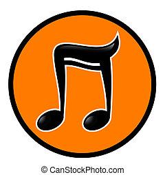 Orange music - Creative design of orange music