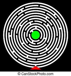Circle maze - creative design of circle maze