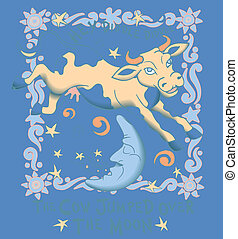 Cow Jumped Over the Moon, Vector - Cow Jumped over the Moon,...