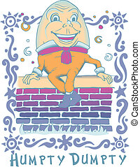 Humpty Dumpty VEctor - Nice drawing of Humpty Dumpty sitting...