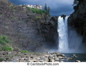 Snoqualmie falls - USA Washington State Snoqualmie Falls...