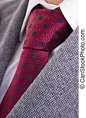 Tie, Shirt and Jacket - Closeup of formal business attire...