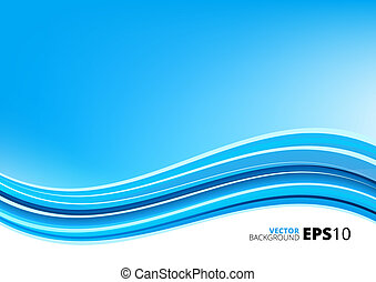 Blue and white waves package background - Blue clean modern...
