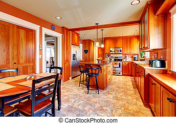 Design idea for kitchen and dining room