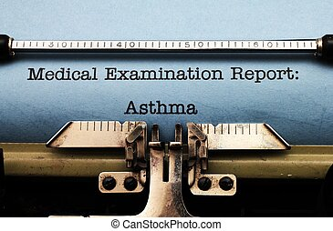 Medical report - Asthma