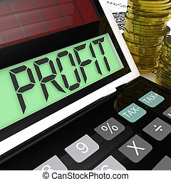 Profit Calculator Shows Surplus Earnings And Returns -...