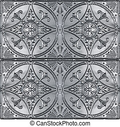four ornate tin ceilings - four decorative tin ceilings