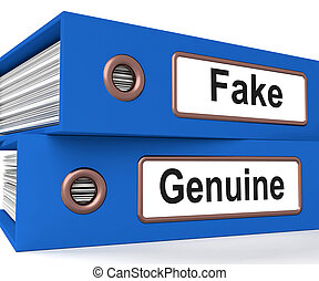 Fake Genuine Folders Show Real Or Imitation Products - Fake...