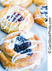 Filled danishes - Freshly baked filled danishes from the...