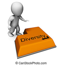 Diversity Key Means Multi-Cultural Range Or Variance -...