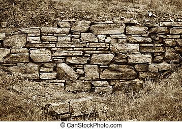 Wand, stein, altes, hintergrund