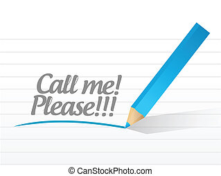 call me please message illustration design