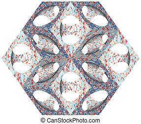 Ornamental Subtraction Of Cube - Retro Ornamental...