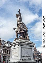 Marie-Christine de Lalaing in Tournai, Belgium. - Monument...
