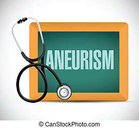aneurysm word written on a chalkboard. illustration design...
