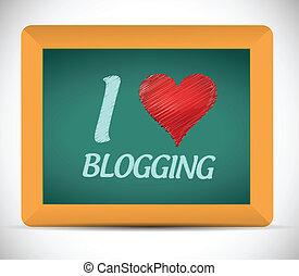 I love blogging written on a chalkboard.