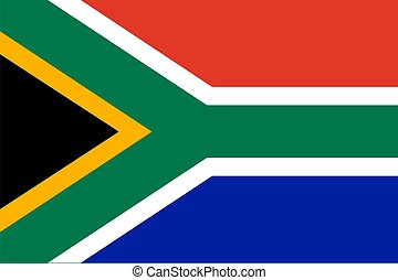 Flag of RSA - Flag of RSA. Illustration over white...
