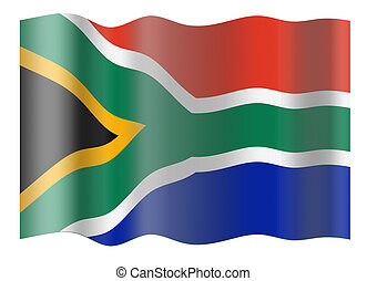 Flag of RSA Illustration over white background