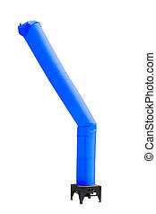 blue sky tube balloon display stand isolated on white...