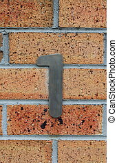 house numbers - street house numbersnumber 1
