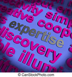 Expertise Word Means Proficiency Capabilities And Know-How -...