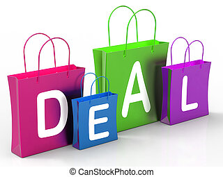 Deal On Shopping Bags Shows Bargains And Promotions - Deal...