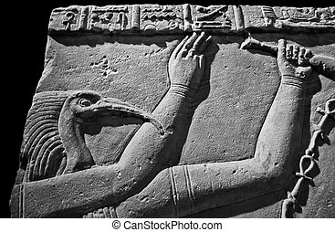 God Thoth - A carving of the Ancient Egyptian god Thoth....