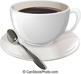 A cup of black coffee - Illustration of a cup of black...