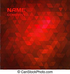 Red abstract mosaic background.