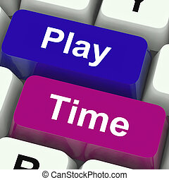 Play Time Keys Show Playing And Entertainment For Children