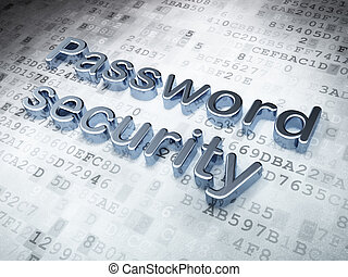 Protection concept: Silver Password Security on digital...