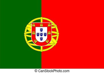 Portugal Flag - Portugal national flag Illustration on white...