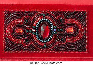 The red women clutch bag