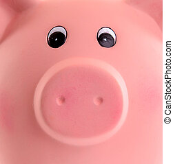 Unique pink ceramic piggy bank