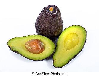 avocados - avocado on the white background