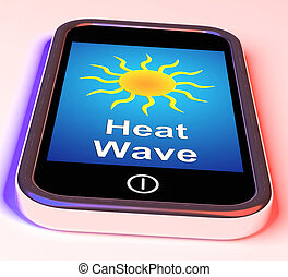 Heat Wave On Phone Means Hot Weather