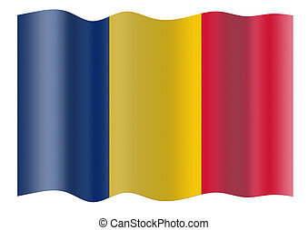 Flag of Central Chad - Flag of Central Chad. Illustration...