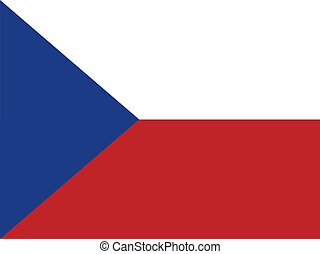 Czech Republic Flag - Czechia national flag Illustration on...