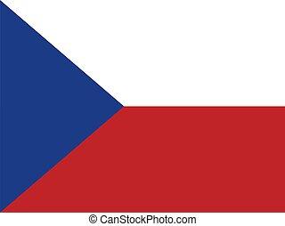 Czech Republic Flag - Czechia national flag. Illustration on...