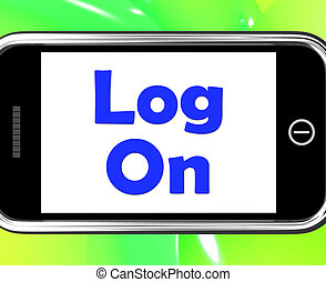 Log On Phone Shows Sign In Online