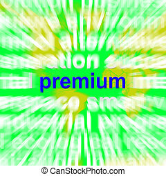 Premium Word Cloud Shows Best Bonus Premiums - Premium Word...