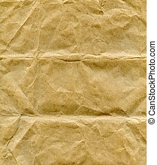 Packing paper - Textured crumpled craft packaging brown...