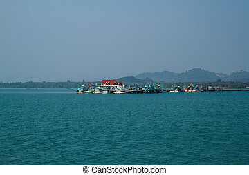 TRAT, THAILAND - DECEMBER 30: The Koh Chang ferry pier and...