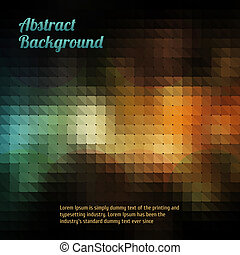 Abstract mosaic vintage and retro background