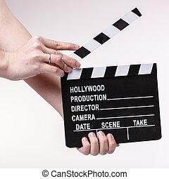 Película, Chica descocada, Womans, Manos, blanco,...