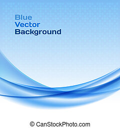 Blue wave background with halftone.