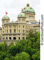 Swiss Parliament. Bern, Switzerland - Swiss Parliament...