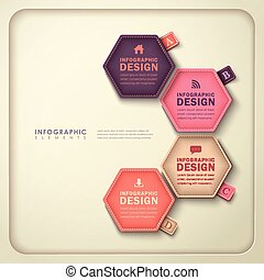 Abstract, Zeshoekig, label, infographics